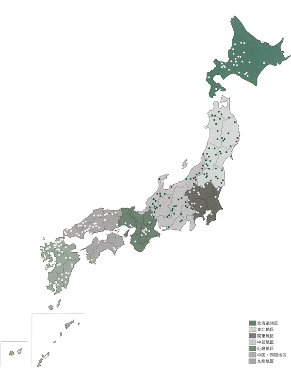 日本地図 ダム・発電所工事